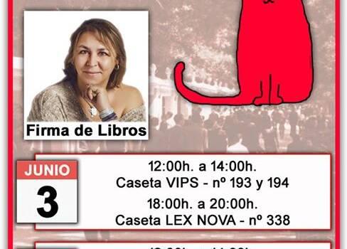 Firma de libros en la Feria del libro de Madrid 2017